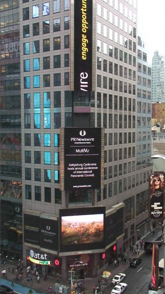 New York Times Square advertising the 20st International Panorama Conference