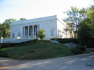 The current Grant Park location of the Atlanta Cyclorama