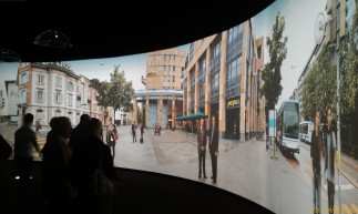 Interactive electronic panorama, exhibition in Luzern, 2010