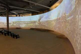Projection of the panorama 'The Battle of the Yzer'