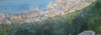 Roger Hallett, Panorama of Gibraltar, detail